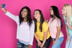 Groupe d'amis de l'adolescence Photographie stock