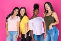 Groupe d'amis de l'adolescence Photos libres de droits