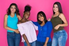 Groupe d'amis de l'adolescence Images libres de droits