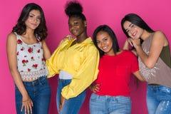 Groupe d'amis de l'adolescence Photo libre de droits