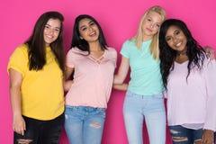 Groupe d'amis de l'adolescence Photos stock