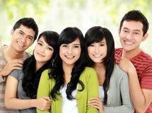 Groupe d'amis de sourire Images libres de droits