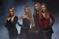 Groupe d'amis féminins Images libres de droits