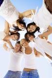 Groupe d'amis gais Photo stock