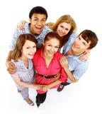Groupe d'amis joyeux heureux image libre de droits