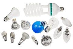 Groupe d'ampoules de burn-out différent image libre de droits