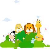 Groupe d'animaux Images stock