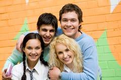 Groupe d'années de l'adolescence Images stock