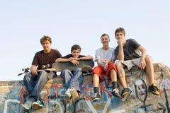 Groupe d'années de l'adolescence Photo libre de droits