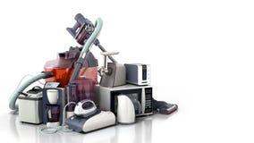 Groupe d'appareils ménagers de café mA de fer de micro-onde d'aspirateur image libre de droits