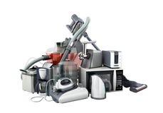 Groupe d'appareils ménagers de café mA de fer de micro-onde d'aspirateur images stock