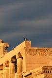 Groupe d'Athènes, Grèce - d'Erechtheum photographie stock