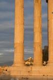 Groupe d'Athènes, Grèce - d'Erechtheum images stock