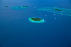 Groupe d'atolls en Maldives Photos stock
