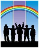 Groupe d'enfants 1 Photos libres de droits