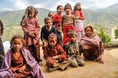 Groupe d'enfants au Népal Images stock