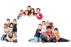Groupe d'enfants avec le professeur Photos libres de droits