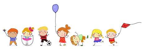 Groupe d 39 enfants pour l 39 arbre de no l illustration de vecteur illustration du hispanique - Dessin groupe d enfants ...