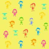 Groupe d'enfants de couleur Image libre de droits