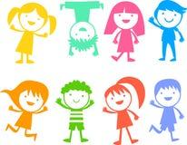 Groupe d'enfants de couleur Image stock