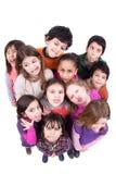 Groupe d'enfants faisant des visages Photographie stock libre de droits