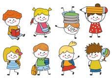 Groupe d'enfants heureux photographie stock libre de droits