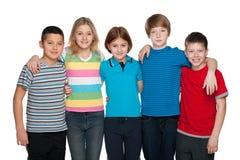Groupe d'enfants heureux Photo stock