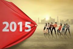 Groupe d'entrave numéro 2015 d'hommes d'affaires Image libre de droits
