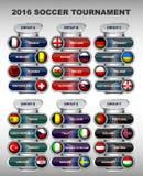 Groupe d'euro du football Photos stock