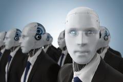 Groupe d'homme d'affaires robotique illustration libre de droits