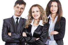 Groupe d'hommes d'affaires attirants et réussis prêts pour le succès sérieux Photographie stock libre de droits