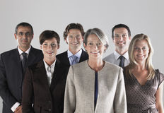 Groupe d'hommes d'affaires de sourire Image libre de droits