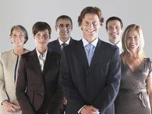 Groupe d'hommes d'affaires de sourire Photographie stock