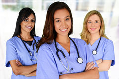 Groupe d'infirmières Photographie stock