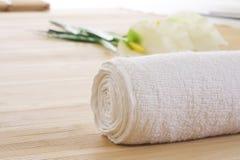 Groupe d'installation de massage prêt Images stock