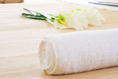 Groupe d'installation de massage prêt Images libres de droits