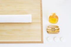 Groupe d'installation de massage prêt Photographie stock