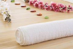Groupe d'installation de massage prêt pour la détente Photo stock