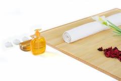 Groupe d'installation de massage prêt pour la détente Images stock