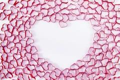Groupe d'objet de forme de coeur sur le bacground blanc avec le copyspace FO Photographie stock