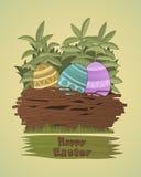 Groupe d'oeufs de pâques colorés Image libre de droits