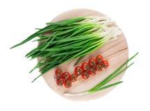 Groupe d'oignon vert Image stock