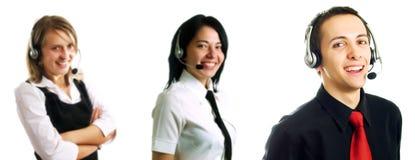 Groupe d'opérateurs de centre d'attention téléphonique Photographie stock libre de droits