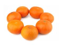 Groupe d'oranges Photos stock