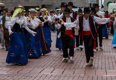 Groupe of dancers in las palmas Royalty Free Stock Photos