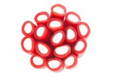 Groupe de bâtons de réglisse rouges Photo stock