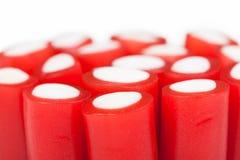 Groupe de bâtons de réglisse rouges Image stock