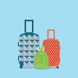 Groupe de bagages illustration stock