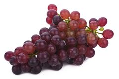 Groupe de baie de raisin rouge d'isolement sur le fond blanc image stock