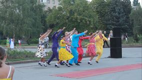 Groupe de ballet de l'ensemble scolaire o de chanson et de danse Photographie stock libre de droits